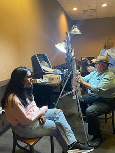 traditional caricature artist